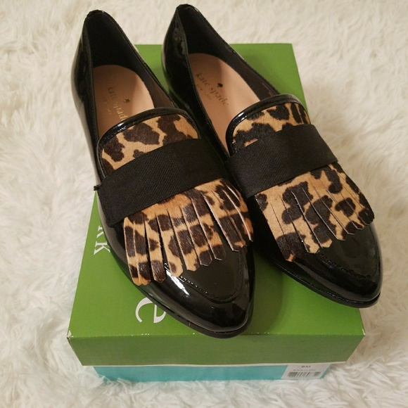 0b4c2944706 Kate Spade Cayla Fringe Patent Leather Loafer sz8
